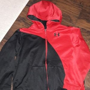 Boys sz M Under Armour zip up hoodie